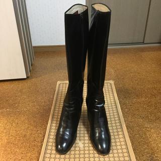 ロングブーツ 黒 ブラック(ブーツ)