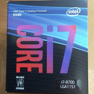 Intel core i7 8700 CPU(PCパーツ)