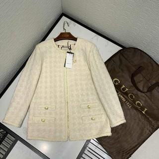 グッチ(Gucci)の人気新品Gucci 秋冬 ツイードジャケット レディース 超美品 カーディガン(カーディガン)