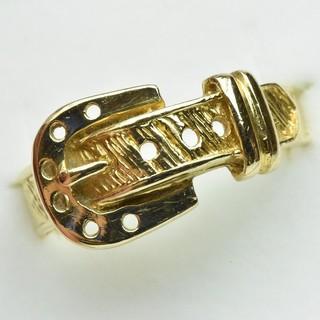 K18 ゴールド デザイン リング 指輪 12号  (リング(指輪))