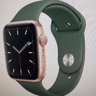 アップルウォッチ(Apple Watch)のアップル ウォッチ 5 GPS 44mm AppleCare+(腕時計(デジタル))