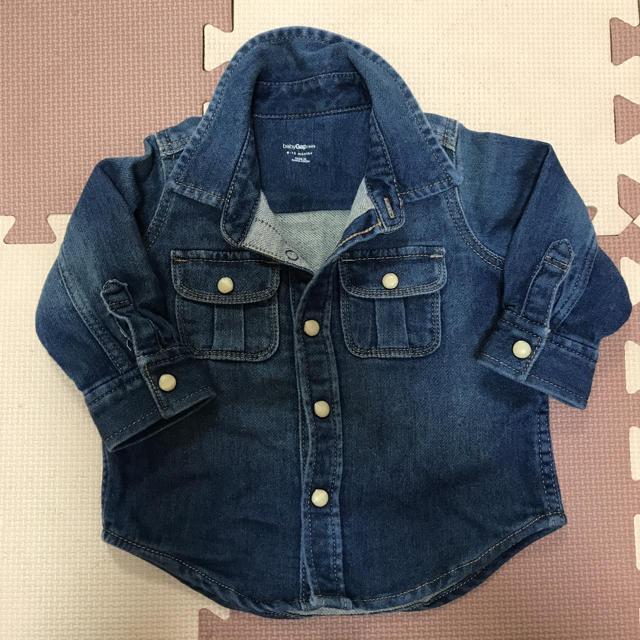GAP(ギャップ)のGAP デニムシャツ 70 キッズ/ベビー/マタニティのベビー服(~85cm)(シャツ/カットソー)の商品写真