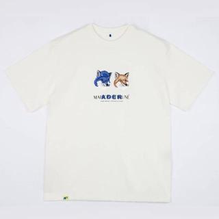 MAISON KITSUNE' - ADERERROR × maison kitsuné コラボTシャツ Lサイズ