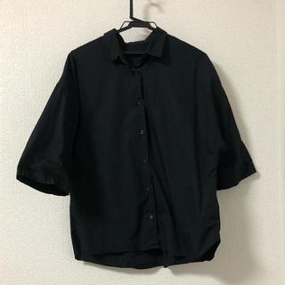 ジーユー(GU)の黒七分袖シャツ(シャツ/ブラウス(長袖/七分))