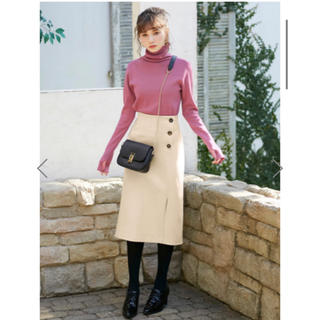 GRL - フラノラップ風ボタンタイトスカート
