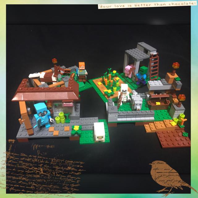 マイクラ レゴ 互換品 ミニフィグ付き マイクラ村セット キッズ/ベビー/マタニティのおもちゃ(積み木/ブロック)の商品写真