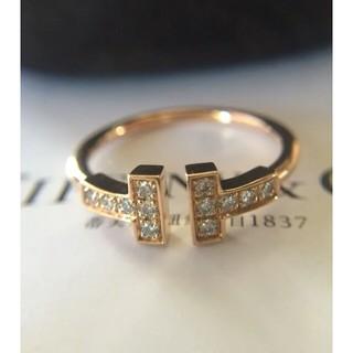 Tiffany & Co. - ティファニー☆Tワイヤーダイヤモンドリング