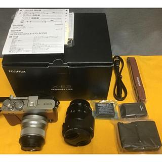 富士フイルム - FUJIFILM X-E3 単焦点レンズキット [ブラウン]+ 標準レンズ付き。