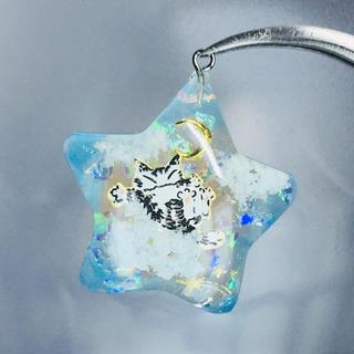 ふわふわ雲と猫ちゃん ネックレス(ネックレス)