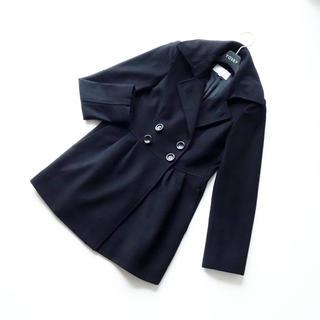 M-premier - ■エムプルミエ■ 34 着やせコート 黒 カシミヤ混