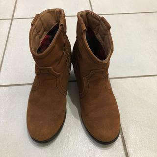 Mサイズ 23.5  ショートブーツ ブラウン(ブーツ)