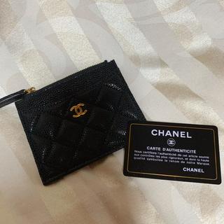 CHANEL - 未使用 シャネル コインケース カードケース  キャビアスキン