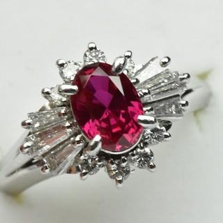 京セラ クレサンベール 綺麗な ルビー リング 10号 指輪  (リング(指輪))