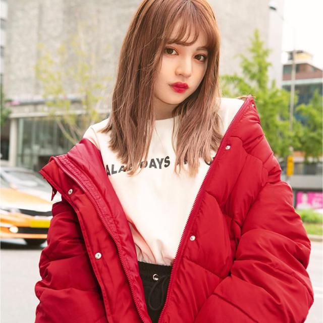GRL(グレイル)のダウンジャケット レッド レディースのジャケット/アウター(ダウンジャケット)の商品写真