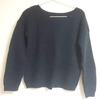 ジーユー(GU)のGU ニット ブラック S(ニット/セーター)