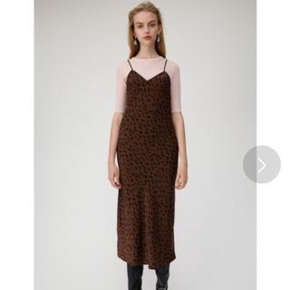 マウジー(moussy)のLEO PRINTED CAMI ドレス  (ロングワンピース/マキシワンピース)