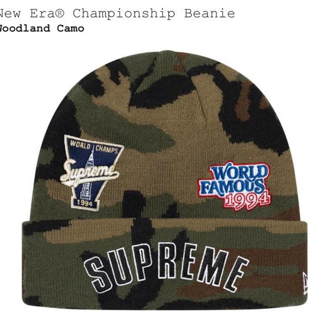 Supreme(シュプリーム)のsupreme 19AW New Era Championship Beanie メンズの帽子(ニット帽/ビーニー)の商品写真