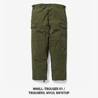 ダブルタップス(W)taps)のWMILL-TROUSER 01 / TROUSER. NYCO. RIPSTO(ワークパンツ/カーゴパンツ)