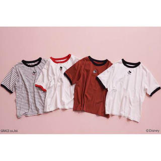 ヘザー(heather)のミッキーリンガーTシャツ(Tシャツ(半袖/袖なし))