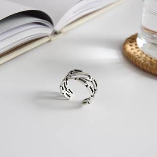 ジーナシス(JEANASIS)のインポートのヴィンテージ   鎖  シルバー 925 リング(リング(指輪))