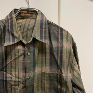 ヨウジヤマモト(Yohji Yamamoto)の古着  ビックシルエットウッドチェックシャツ(シャツ)