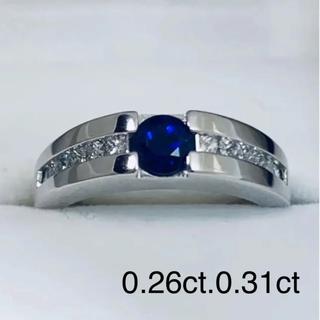 k18WG  サファイア&ダイヤモンド リング(リング(指輪))