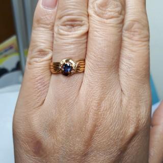 K18サファイアリング(リング(指輪))
