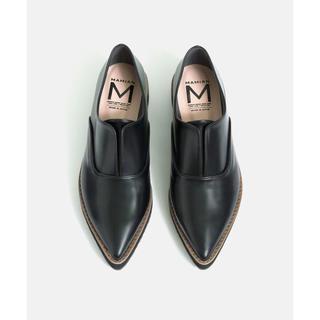 マミアン(MAMIAN)のMAMIAN ノーレース プラットフォーム シューズ (4.0cmソール(ローファー/革靴)