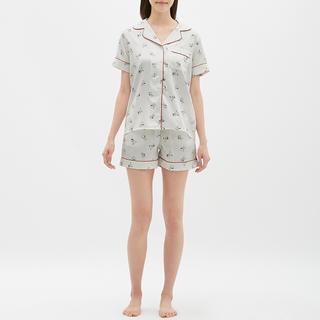 GU - 【スヌーピー】GUサテン生地パジャマ