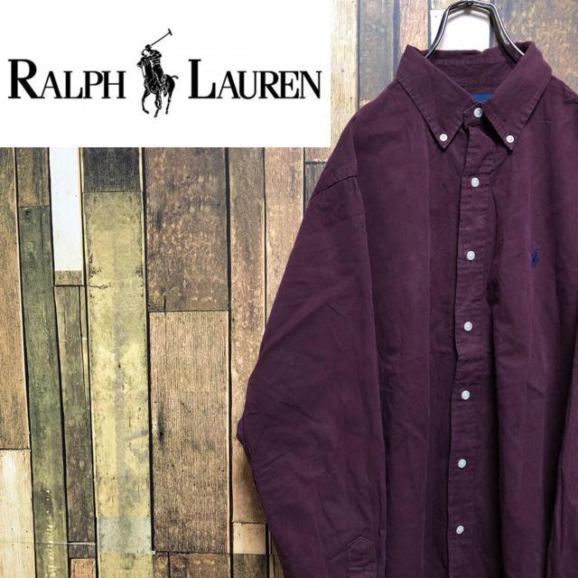 Ralph Lauren(ラルフローレン)の【激レア】ラルフローレン☆ワンポイント刺繍ロゴチノボタンダウンシャツ 90s メンズのトップス(シャツ)の商品写真