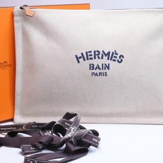 Hermes - HERMES エルメス クラッチバッグ ヨッティング GM キャンパスアイボリー