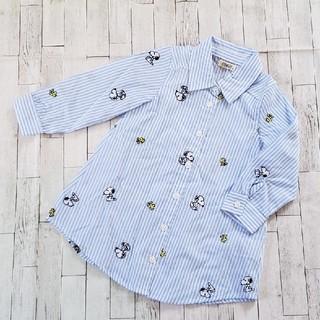 【新品】シャツ ワンピース(ワンピース)