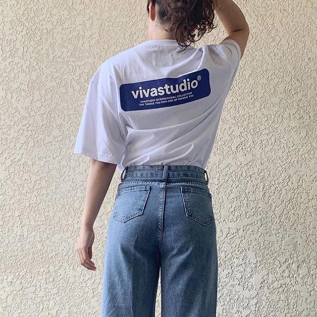 STYLENANDA(スタイルナンダ)のvivastudio  Tシャツ ホワイト レディースのトップス(Tシャツ(半袖/袖なし))の商品写真