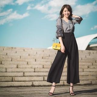 JUSGLITTY - ジャスグリッティー♡サッシュベルト付2WAYサスぺワイドパンツ♡ブラック♡1