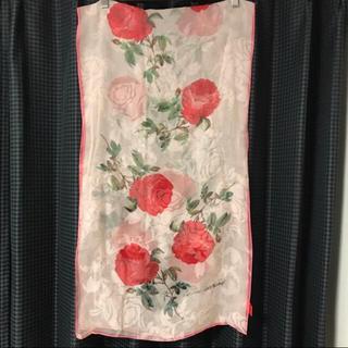 ヴィヴィアンウエストウッド(Vivienne Westwood)のローズ柄 スカーフ 赤タグ(バンダナ/スカーフ)