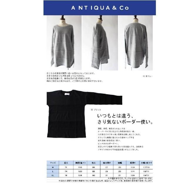 antiqua(アンティカ)の専用  antiqua  トップス  トレーナー レディースのトップス(トレーナー/スウェット)の商品写真