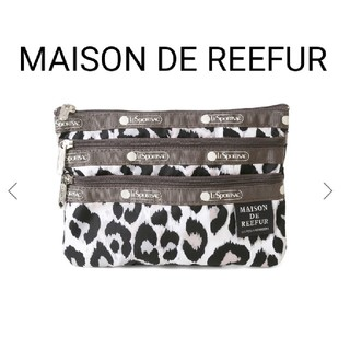 Maison de Reefur - 新品♡メゾンドリーファー レスポ Three Zip Cosmetic