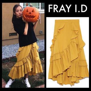 フレイアイディー(FRAY I.D)のFRAY I.D フリルプリーツアシメスカート(ロングスカート)