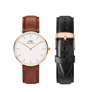 Daniel Wellington - 【36㎜】ダニエル ウェリントン腕時計DW0507+ベルトSET《3年保証付》
