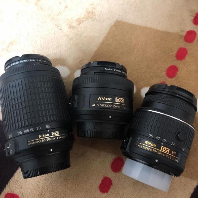 Nikon(ニコン)のNikon d5500 標準、単焦点、望遠レンズセット スマホ/家電/カメラのカメラ(デジタル一眼)の商品写真