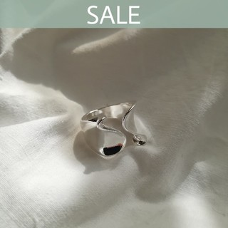 AZUL by moussy - 【数量限定SALE】silver wave ring *