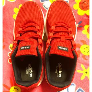 アディダス(adidas)のadidas★ortholite★25.5★赤★新品未使用品(スニーカー)