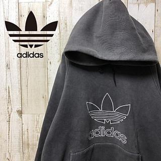 adidas - 【激レア】90s adidas アディダス レアカラー デカロゴ  パーカー