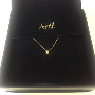 アーカー(AHKAH)のAHKAH K18ダイヤモンド ティアネックレス(ネックレス)