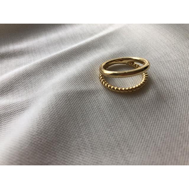 二重リング レディースのアクセサリー(リング(指輪))の商品写真