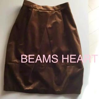 ビームス(BEAMS)のBEAMS HEART ベロアスカート(ひざ丈スカート)