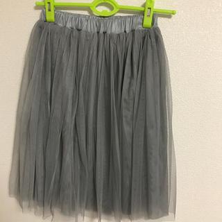 チュールスカート(ひざ丈スカート)