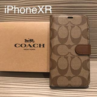 コーチ(COACH)の新品 COACH コーチ iPhoneXR 手帳型ケース(iPhoneケース)