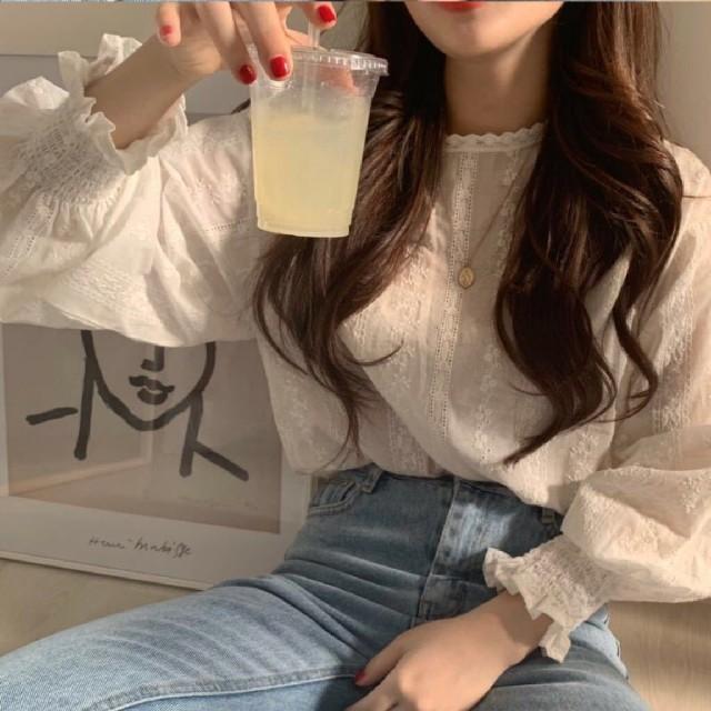 ZARA(ザラ)の人気の可愛いキュートはブラウス トップス レディースのトップス(シャツ/ブラウス(長袖/七分))の商品写真
