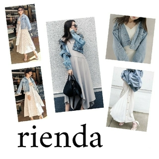 rienda - rienda スプリングカラーオーバーデニムジャケット